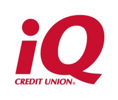 Logo for iQ Credit Union, Silver Level Sponsor